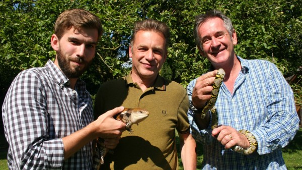 Sam Pearson with Chris Packham and Nigel Marven for Eden Shorts wildlife film competition.