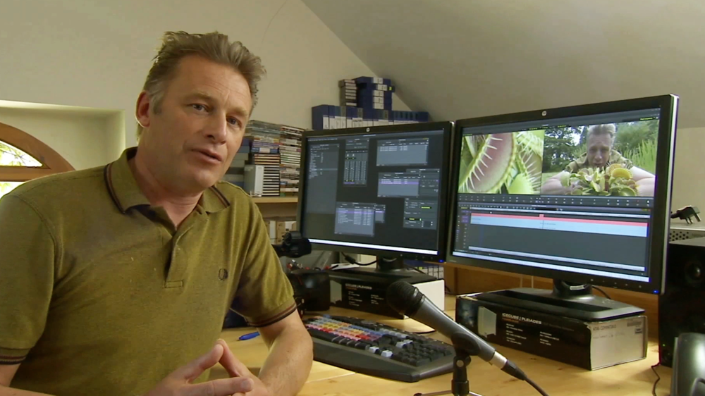 Chris Packham in an Edit Suite